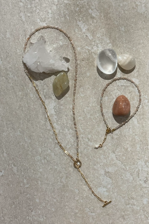 Moon stone guiding stone necklace