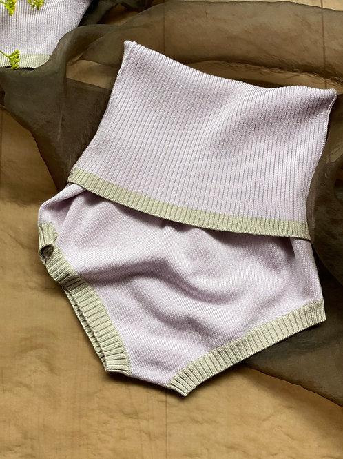 Washable Silk BERRY BAND SHORTS