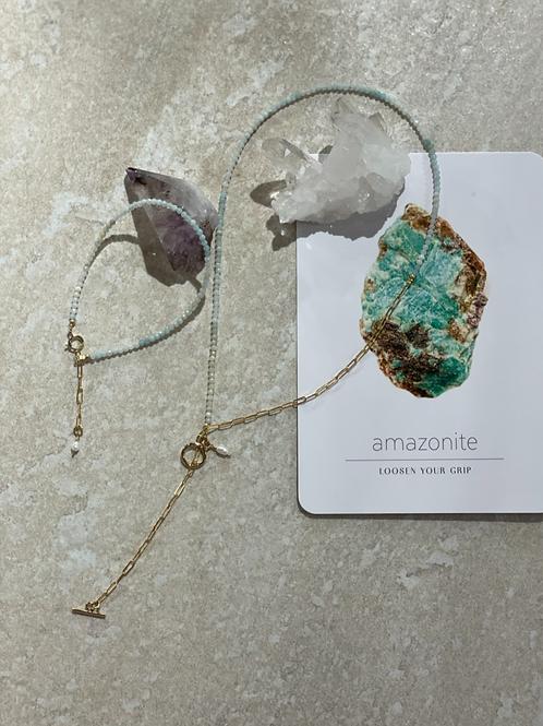 Amazonite guiding stone necklace