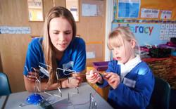 Open Wide volunteer & keen kid!