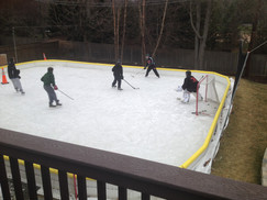 Kids pick-up hockey.