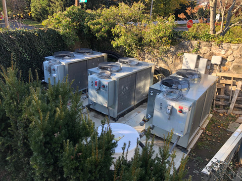 Chillers installed