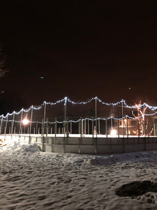 Rink with lights