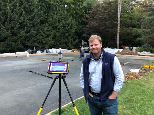 One of our founders, Tyler, surveying a rink site. 2020 Build Season is upon us!