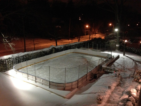 Finished rink at nighttime