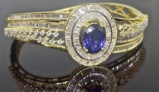diamond bracelet - sapphire