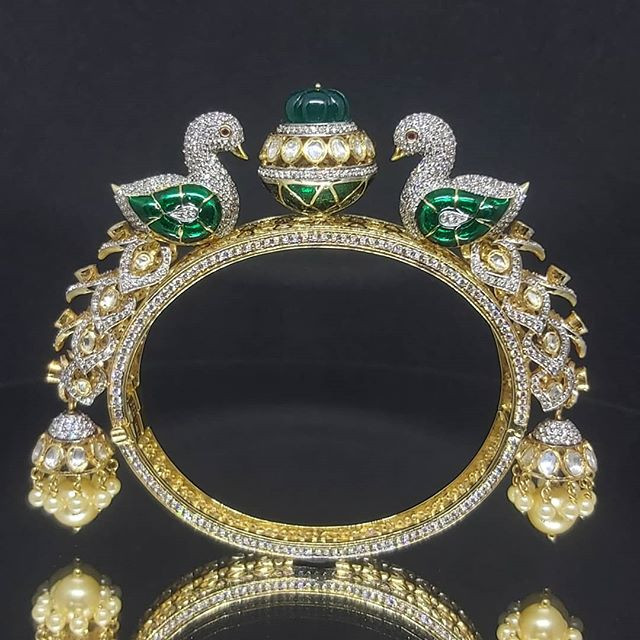 traditional style peacock bangle