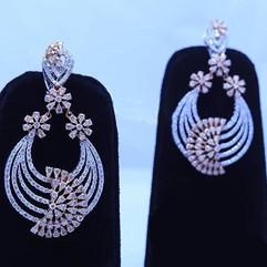 diamond earring - galaxy pattern