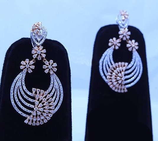 diamond earring - galaxy pattern