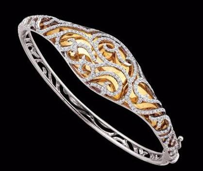 mirror finish diamond bracelet