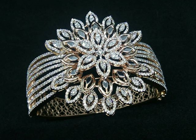 broad diamond bracelet