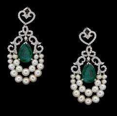 pearl and diamond earring