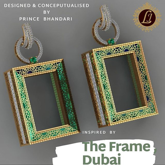 architecture inspired earring - the frame