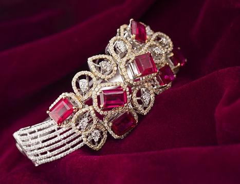Designer diamond bracelet - Ruby