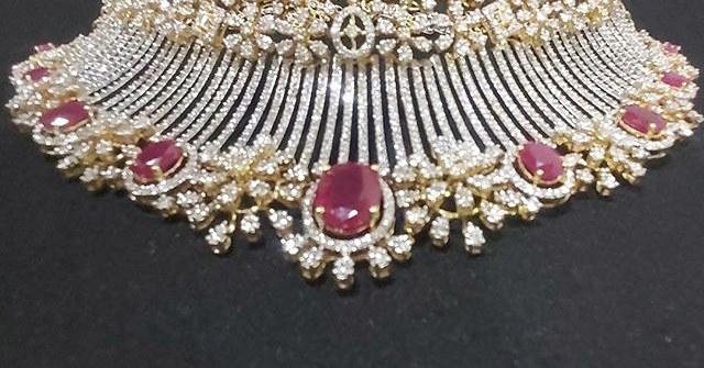 diamond choker set - ruby