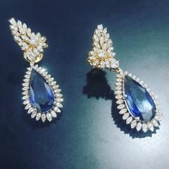 diamond earring due drop
