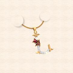 diamond alphabet letter L pendant