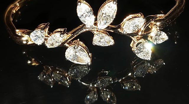 nature inspired diamond bracelet