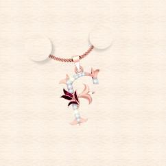 diamond alphabet letter F pendant
