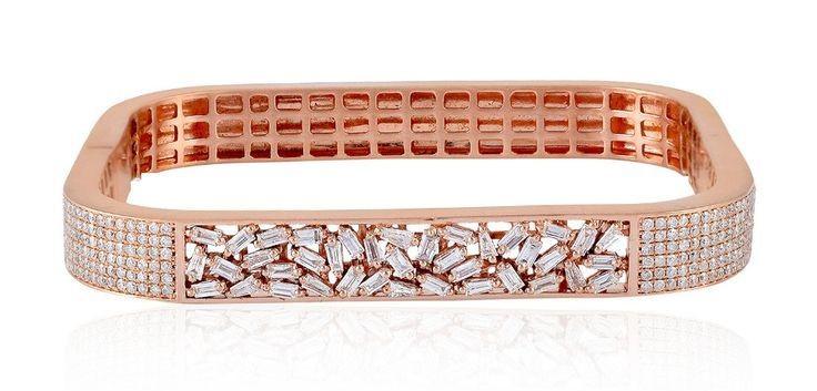 square shape diamond bracelet