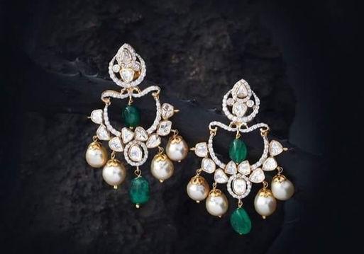 Designer diamond earring - fusion
