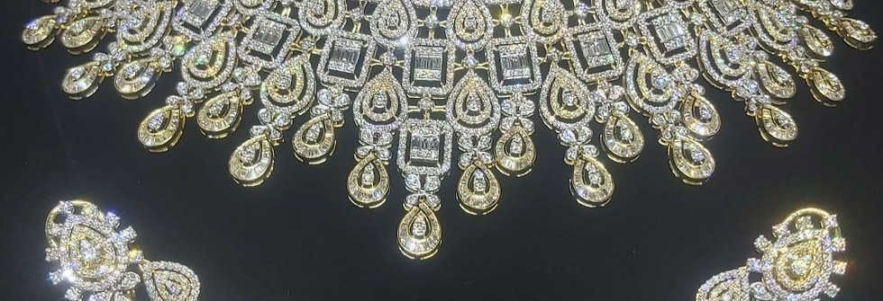 bridal diamond choker set
