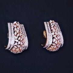 diamond loop earring