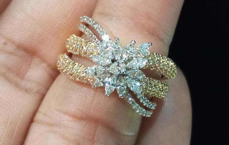 diamond dual tone ring