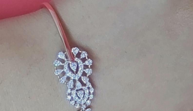 half tennis diamond bracelet