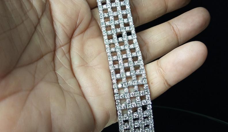 broad diamond tennis bracelet