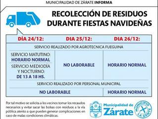 Recolección de Residuos Fiestas Navideñas 2015