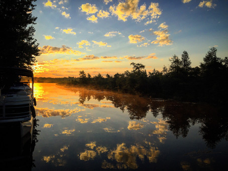 Canal view sunrise