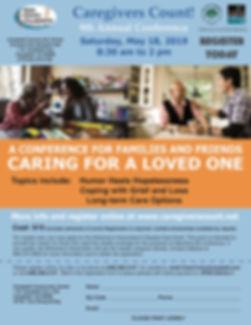 2019 Caregivers Count Registration Flyer