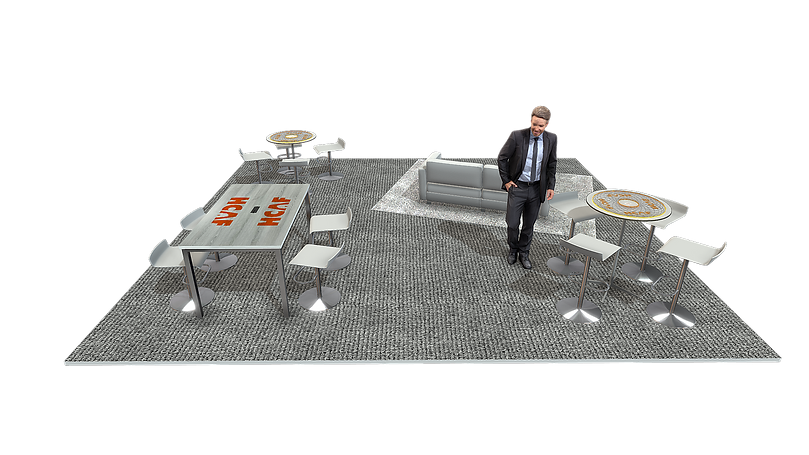 Trade Show Executive Lounge Rendering