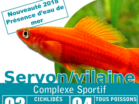 Bourse Aquariophile le 3 & 4 Mars 2018