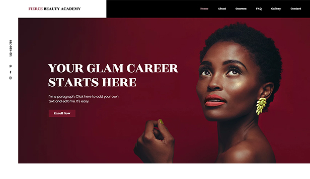 Education website templates – Beauty Academy