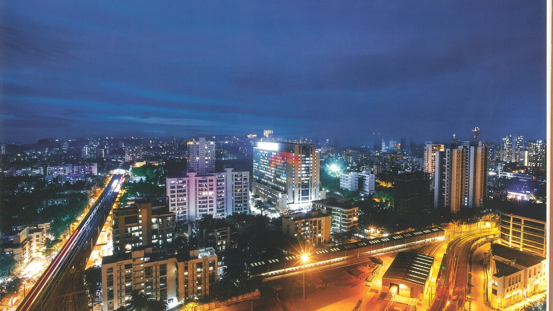 adani-western-heights-a wing-night-view-