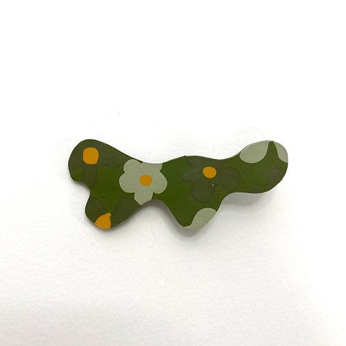 Sage Flower Hair Clip