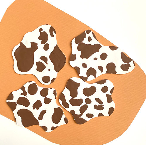 Cow Print Coasters