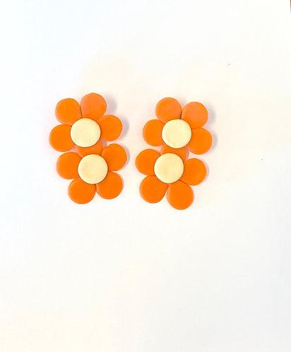 Double Daisy Earrings