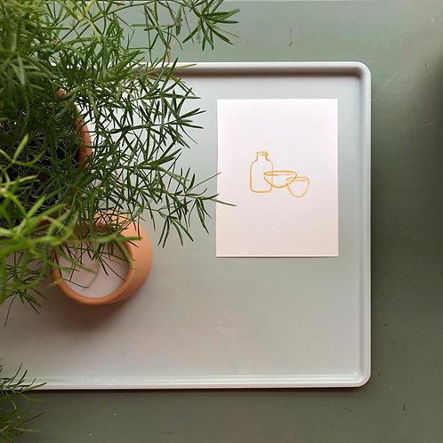 watercolor : bowls