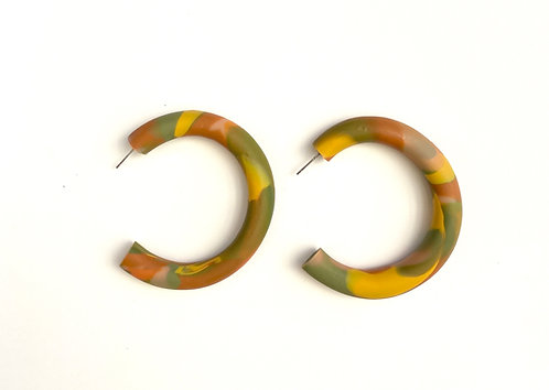 Water Color Hoop Earrings