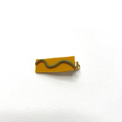 Small Wave Tie Clip