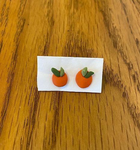 Tiny Orange Earrings