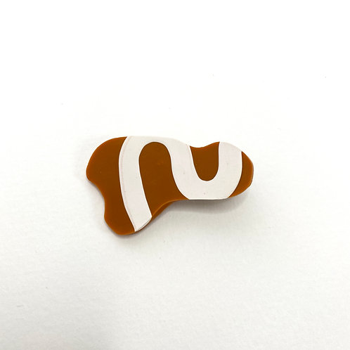 Squiggle Abstract Hair Clip