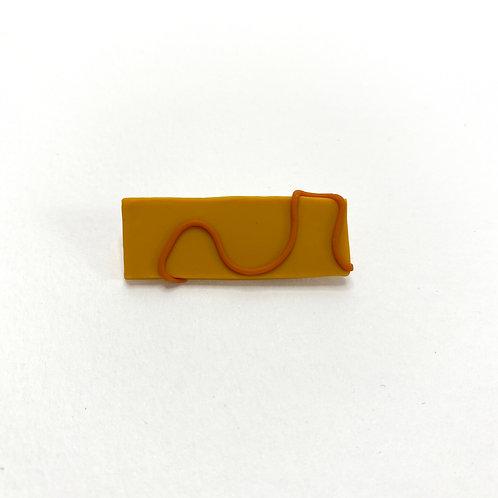 Abstract Mustard Pin