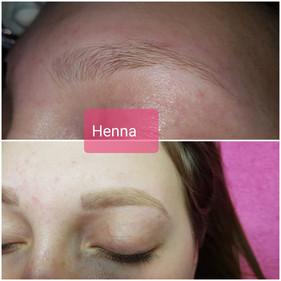 2Henna Augenbrauen Zupfen und Färben