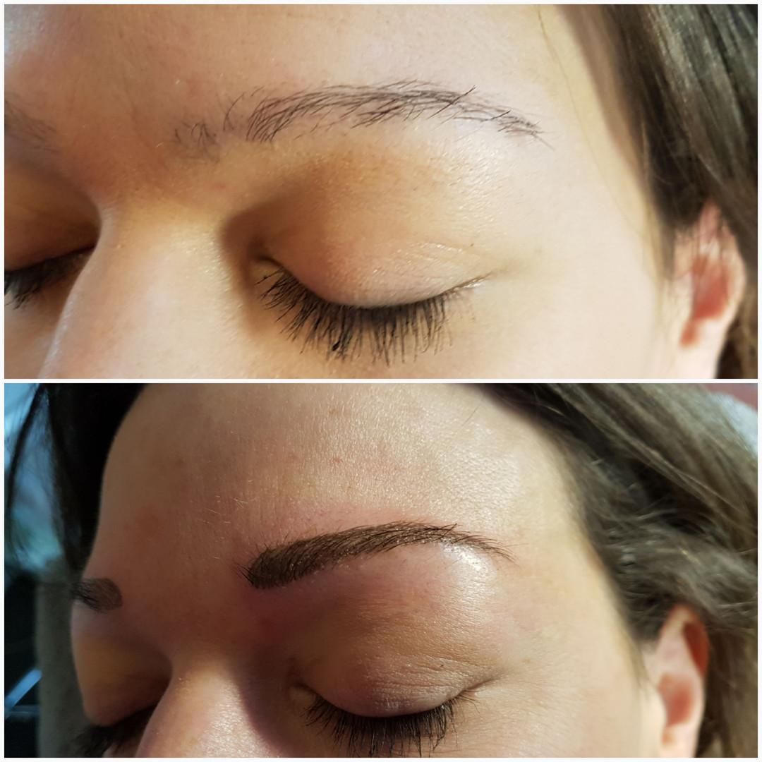Augenbrauen mit Permanent make-up