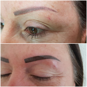 Farbauffrichung mit Permanent Make up