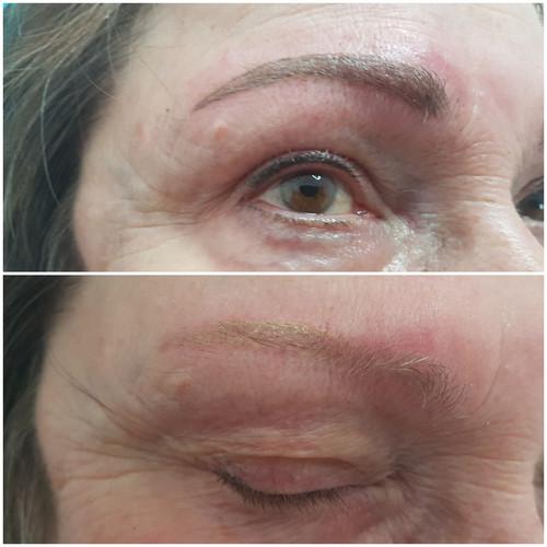 Augenbrauen mit Permanent Make up